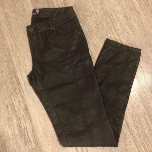 Topshop Faux Leather Good Girl vs Bad Girl Pants